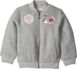 Stella McCartney Kids - Dusty Bomber Jacket w/ Swan Patch Applique (Little Kids/Big Kids)