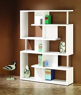 5-Tier Bookcase White and Chrome
