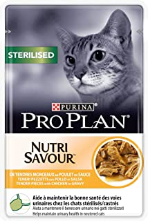 Proplan Wet Cat Food Sterilised Cat Grilled In Gravy Chicken, Brown, 85 g, 12248782, Pack of 24