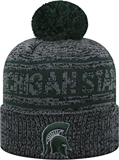 Top of the World Michigan State Spartans Official NCAA Cuffed Knit Sockit to Me Stocking Stretch Sock Hat Cap 468785