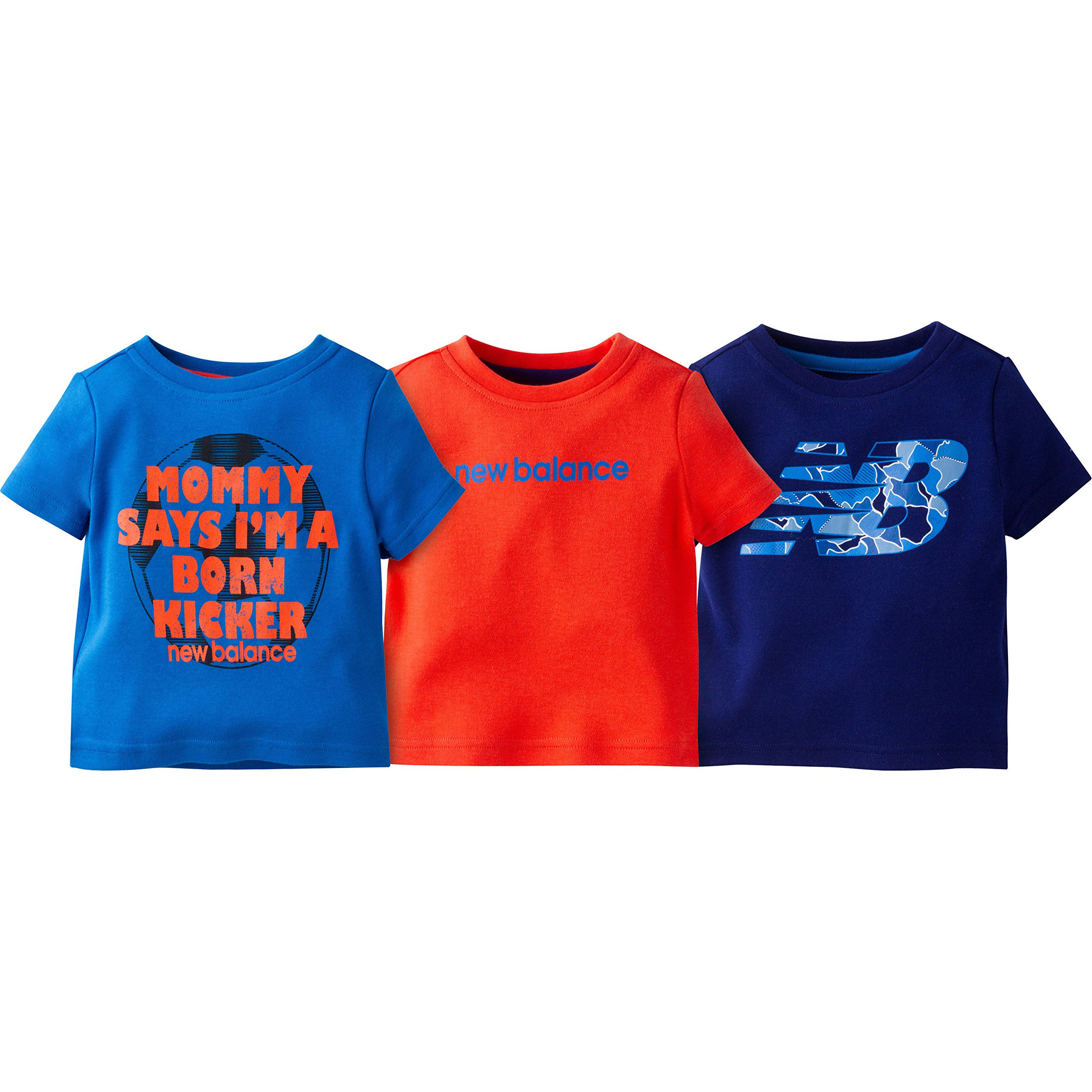 New Balance 男童 3 件装图案 T 恤