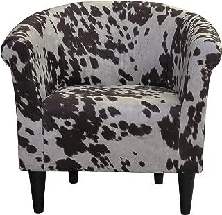 Parker Lane Savannah Club Chair, Cowhide Brown