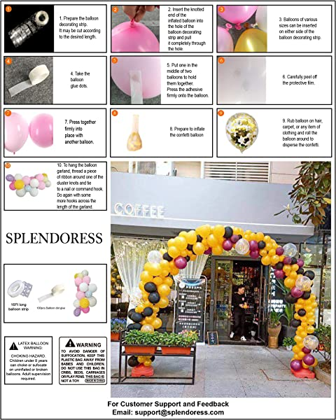 Large White Black And Gold Balloon Garland Arch Kit Perfect Ballons For Baby Or Wedding Shower Party Decorations Giant Gold Black And White Baloon Arch Kits Wall Balloons