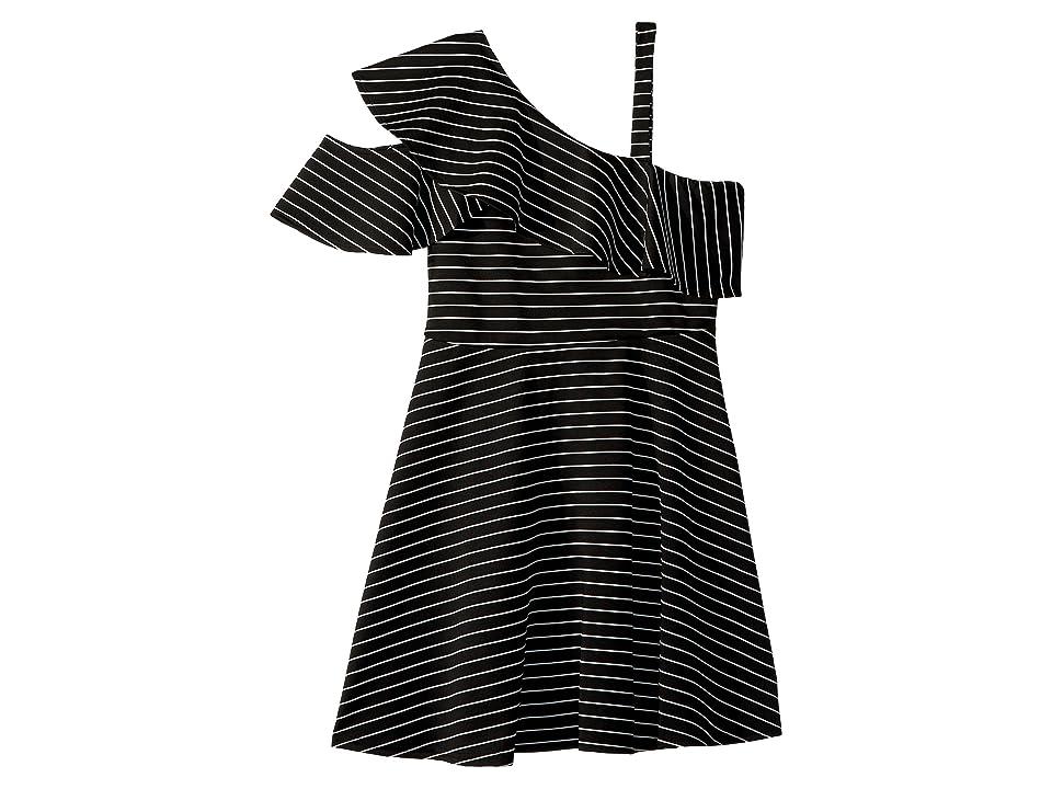 Bardot Junior Senna Ruffle Dress (Big Kids) (Stripe) Girl