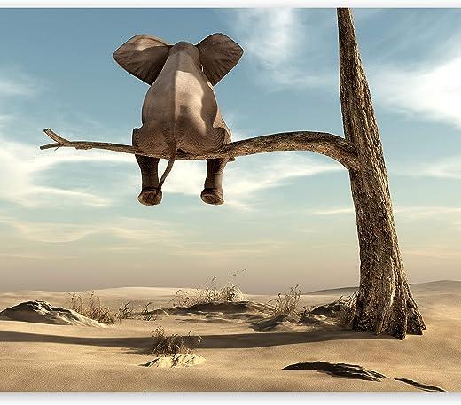 murando Fototapete Elefant auf dem Baum 350x256 cm Vlies Tapeten Wandtapete XXL Moderne Wanddeko Design Wand Dekoration Wohnzimmer Schlafzimmer...