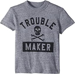 Chaser Kids - Vintage Jersey Trouble Maker Tee (Toddler/Little Kids)