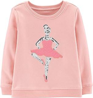 OshKosh Girls Sequin Crew Neck Sweatshirt Shirt