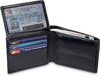 """TRAVANDO Cartera Hombre """"BERLIN"""" con Bloqueador RFID, Billetera Negra, Monedero Varón, Portamonedas, Regalo, Wallet, Verti..."""