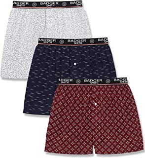 Men's 5 - Pack and 3 - Pack Cotton Print Multicolor Boxer Shorts