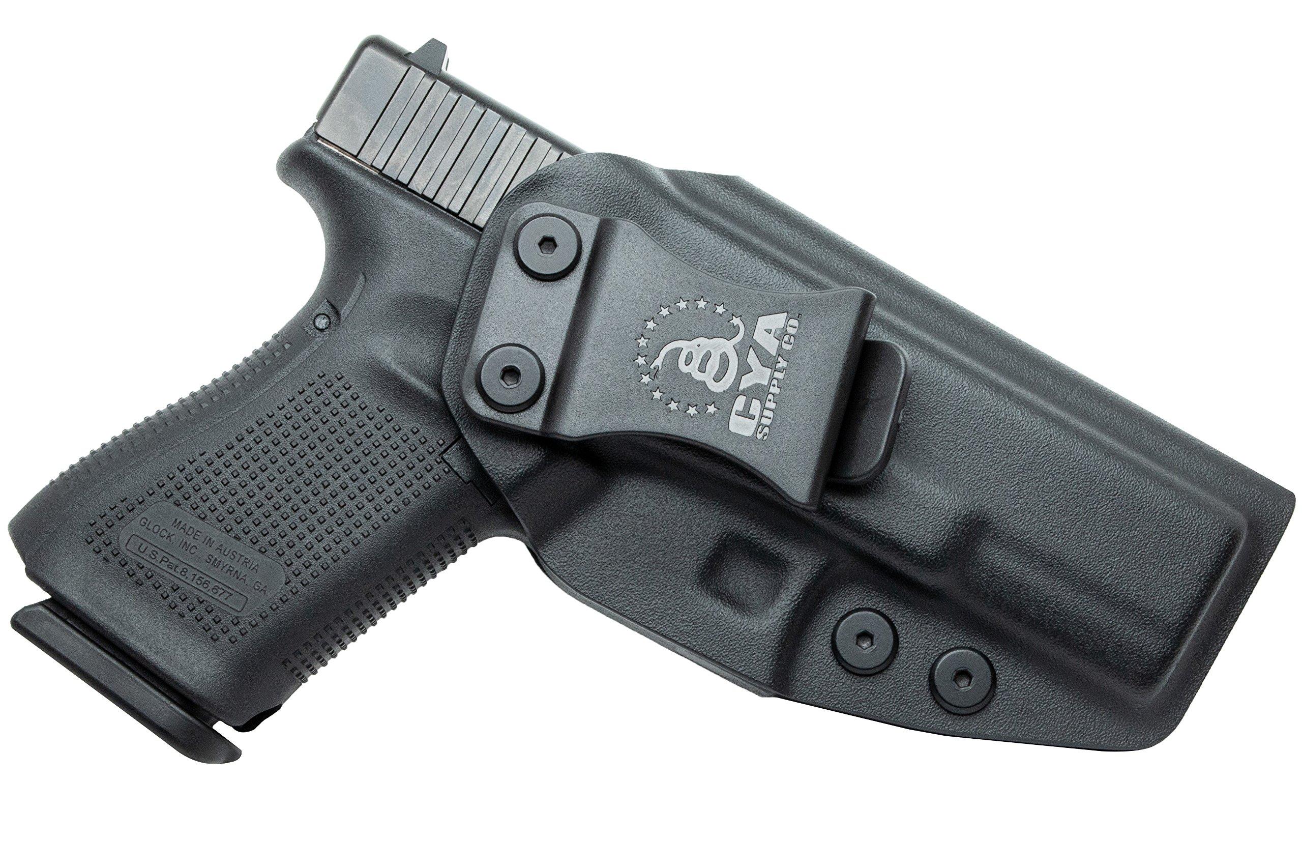 23 32 Black Carbon Fiber Kydex holster IWB right Concealment Fits Glock 19