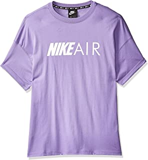 Nike Women's NSW Air Top BF, Blue(Space Purple/White567), Large