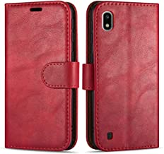 "Case Collection Premium Leather Folio Cover for Samsung Galaxy A10 Case (6.2"") Magnetic Closure Full Protection Design Wallet Flip with [Card Slots] and [Kickstand] for Samsung Galaxy A10 Phone Case"