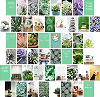 MyBohoCottage Photo Collage Kit with Adhesive stickers - Set of 50 - ZEN Photo Wall Collage Kit for Wall Aesthetic – Tezza...