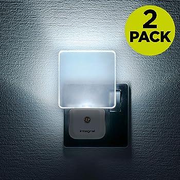 Integral Night Light Plug in Walls, 0.6 W, White