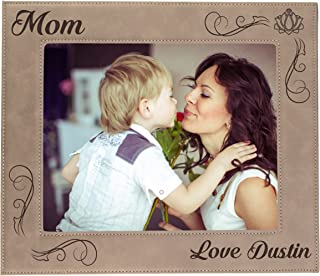 Custom Engraved Picture Photo Frame for Mom Personalized and Monogrammed for Free (8 x 10)