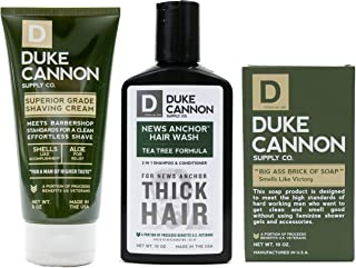 Duke Cannon Men's Grooming Bundle: Superior Grade Shaving Cream, Smells Like Victory Soap Bar, Hard-working 2-in-1 Hair Wash