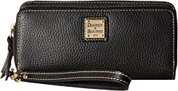 Dooney & Bourke Pebble Double Zip Wallet