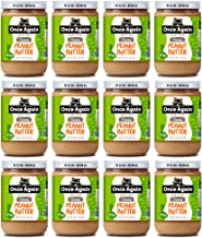 Once Again Organic, Creamy Peanut Butter - Salt Free, Unsweetened - 16 oz Jar- Case of 12