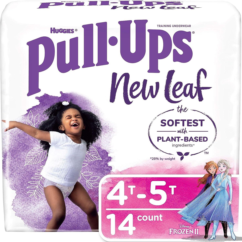 Pull-Ups New Leaf Girls' Potty Training Pants Training Underwear, 4T-5T, 14 Ct
