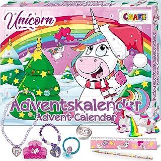 CRAZE Premium Advent Calendar 24706 Jouets de l'avent 2020 Unicorn Calendrier pour Enfants Filles garçons avec Un Contenu ...
