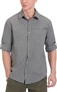 Little Donkey Andy Men's UPF 50+ UV Protection Shirt, Breathable Long Sleeve Fishing Hiking Shirt, Air-Holes Tech