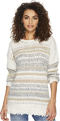 Joannie Patterened Fringe Sweater