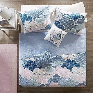 Urban Habitat Kids Cloud Bedding Blue, Geometric, Unicorn – 4 Piece Kids Girls 100% Cotton Quilt Sets Coverlet, Twin XL