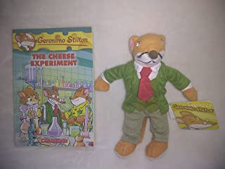 Geronimo Stilton Plush 7 Inches and The Cheese Experiment Softcover Book