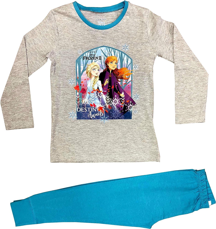 Long Leg 2 Piece Set Long Sleeve BNWT Girls Pyjamas,Anna /& Elsa,Frozen