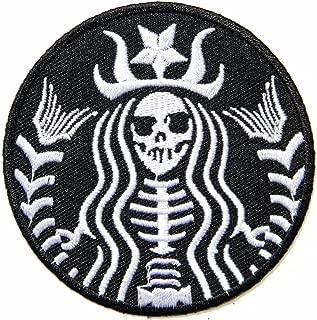 Mermaid Skeleton Skull Starbuck Zombie Biker Patch Iron On Jacket Cap Logo Sign