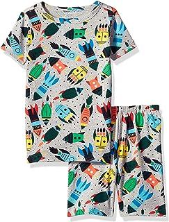 Gymboree Boys' Big 2-Piece Tight Fit Sleeve Short Bottoms Pajama Set