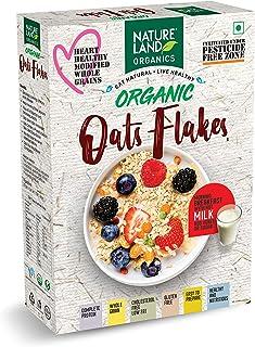 Natureland Organics Oat Flakes 250 Gm - Healthy Organic Oats