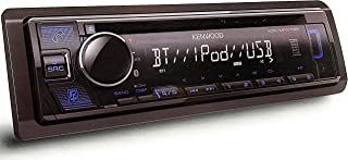 Kenwood Single DIN Bluetooth CD/AM/FM USB Auxiliary Input Car Stereo Receiver w/ Dual Phone Connection, Pandora/Spotify/iH...
