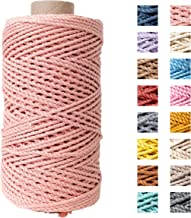 Katoen macramé touw - Macramé koord - Zalmroze - 3mm dik - 140 meter - 600 gram (Zalmroze)