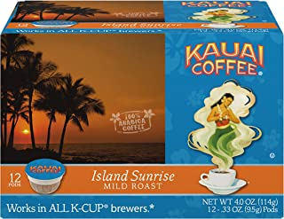 Kauai Coffee Single-serve Pods, Island Sunrise Mild Roast – 100% Premium Arabica Coffee from Hawaii's Largest Coffee Grower, Compatible with Keurig K-Cup Brewers - 72 Count