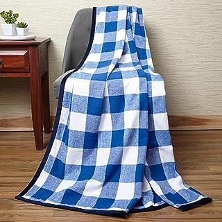 Encasa Homes narzuta na łóżko i sofę 127 cm x 152 cm - 7,6 cm bawełna polar z aksamitną lamówką, miękki, ciepły i wygodny,...