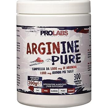 Integratore - preworkout- arginina pura prolabs - barattolo da 300 compresse ARP300CPR