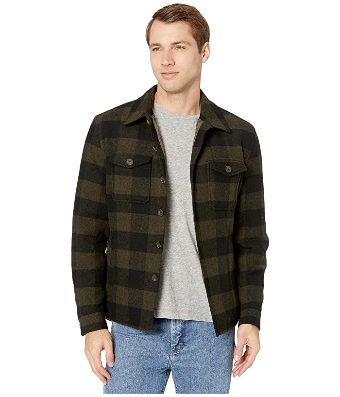 Lucky Brand  Check Shirt Jacket (Khaki) Mens Clothing
