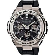Casio Men's G Shock Stainless Steel Quartz Watch with Resin Strap, Black, 26.8 (Model: GST-S110-1ACR