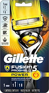 Gillette Fusion5 ProShield Power Men's Razor Handle + 1 Refill + 1 Battery