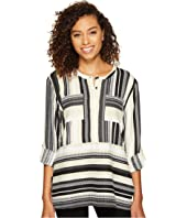ROMEO & JULIET COUTURE - Double Pocket Stripe Tunic
