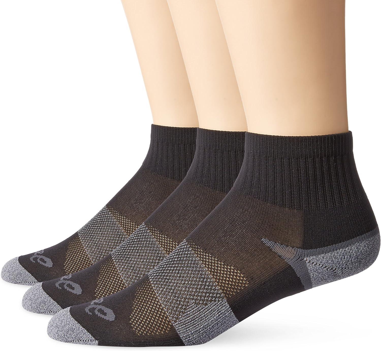 ASICS Quick Lyte Cushion Quarter Sock (Pack of 3)