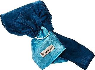HIP 婴儿包巾双宫绸丝绸戒指背带婴儿背带适用于婴儿和学步儿童 Sapphire (blue)