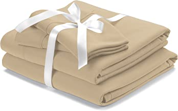 Wicked Sheets Original Moisture-Wicking Bed Sheet Set/for Night Sweats & Hot Flashes (California King, Deep Pocket, Beige)