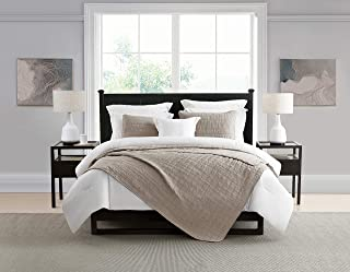 Swift Home Oversized 3pc Enzyme Washed Reversible Crinkle Quilt Coverlet Bedspread – Ultra Soft Microfiber Lightweight Hypoallergenic Luxurious Quilt Set All Season -King/Cal King, Mushroom