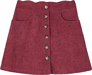 Amy Byer Girls' Button Front Skirt