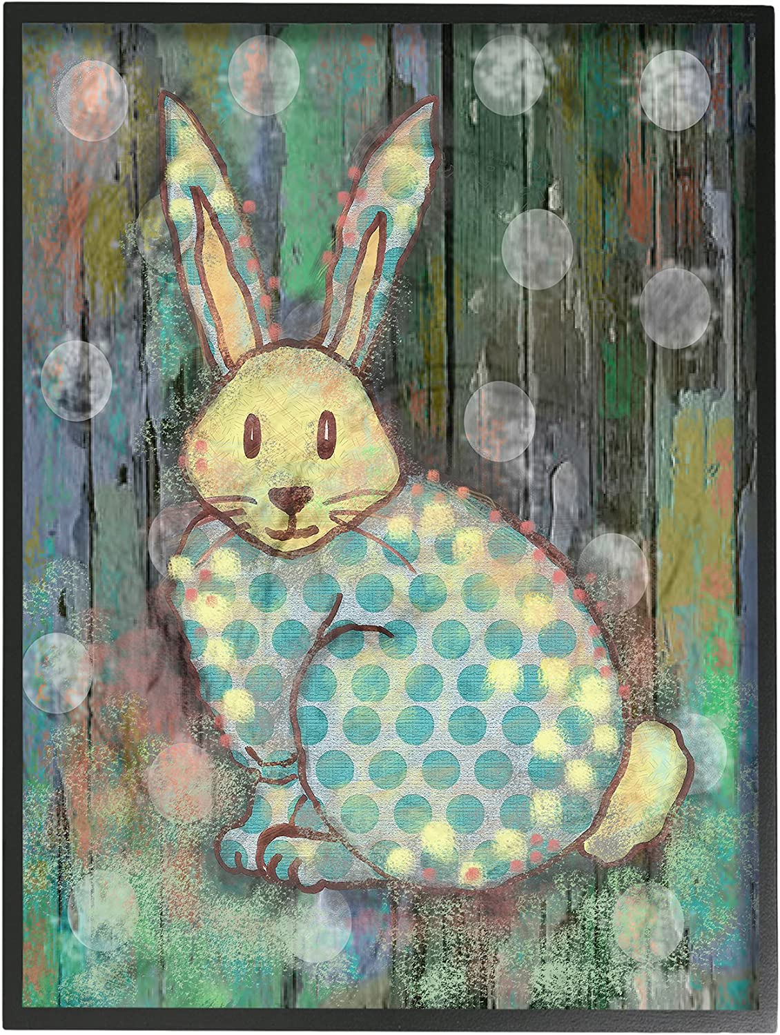 Stupell Industries Distressed Woodland Wall Spring new work one after another Rabbit Framed Black Be super welcome