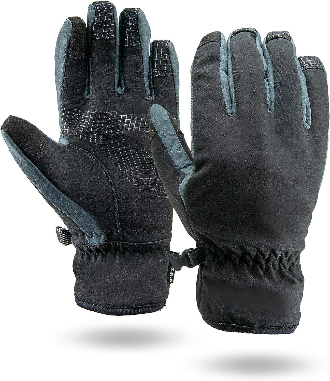 Illinois Glove Company 88 3MThinsulate Lined Touchscreen Winter Glove Black/Gray