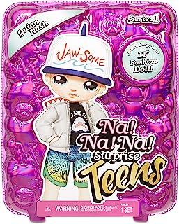 Na Na Na Surprise Teens Fashion Doll – Quinn Nash, Soft Fabric Boy Doll, Shark Inspired