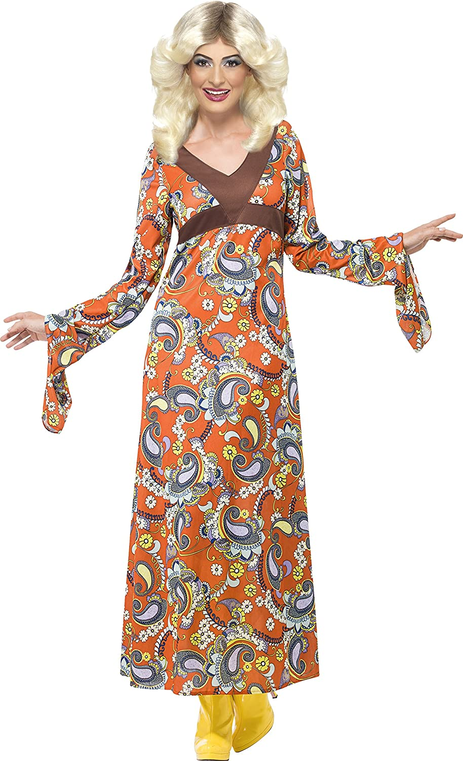 70s Costumes: Disco Costumes, Hippie Outfits Smiffys Womens Woodstock Maxi Dress Costume  AT vintagedancer.com